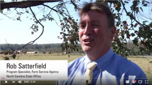 Rob Satterfield, FSA farm program chief, discusses USDA-FSA's disaster assistance programs for N.C. farmers and Extension professionals.