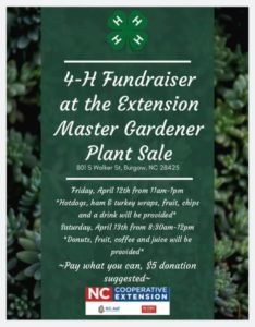 Cover photo for 4-H Fundraiser at the 2019 EMGV Plant Sale!