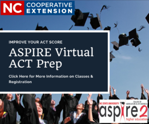 ASPIRE Virtual ACT Prep flyer