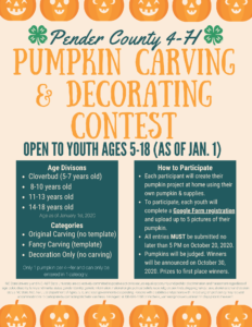 Pumpkin Carving and Decorating Contest details