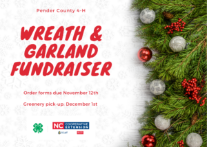 Pender County 4-H Wreath & Garland Fundraiser