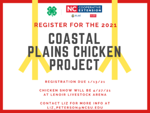 Coastal Plains Chicken Project 2021 flyer
