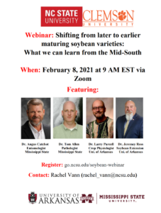 Cover photo for Webinar: Shifting From Later to Earlier Maturing Soybean Varieties